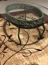 Beveled glass top and green base coffee table in Fort Leonard Wood, Missouri