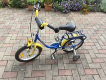 "German engineering: Kids bicycle Z6 by ""PUKY"" in blue and yellow with soccer ball decoration, Ma... in Ramstein, Germany"