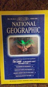 National Geographic Mag 1984 Maarch Laser Eagle Halo in Alamogordo, New Mexico