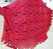 Queen Red and Black  Heavy Bedspread in Alamogordo, New Mexico