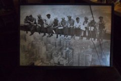 lunch atop a skyscraper framed poster in Fort Campbell, Kentucky