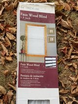 White- Faux wood blinds in Elgin, Illinois