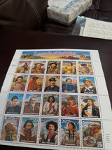 Full sheet Legends of the West PS stamps (20-29cent) in Fort Polk, Louisiana