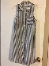 Navy and cream stripe denim Old Navy dress in Kingwood, Texas