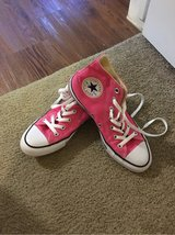 REDUCED Bright pink Converse high tops like new in Kingwood, Texas