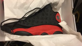 Jordan retro 13 blk/red in Ansbach, Germany