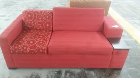 RED MODERN FLORAL COUCH in Camp Lejeune, North Carolina
