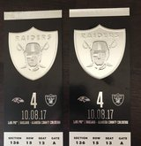 RAIDERS VS. RAVENS TICKETS in Vacaville, California