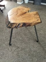 Handmade live edge heart shaped spalted maple side table in St. Charles, Illinois