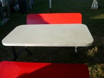 Retro table set in Fort Campbell, Kentucky