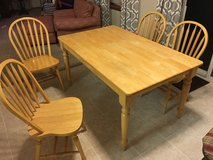 Solid Wood Kitchen Table  and 4 Chairs in Chicago, Illinois