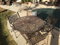 brown wrought iron 5 piece patio set in Naperville, Illinois