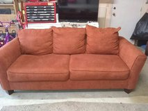 Red Couch in Vacaville, California