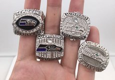 SEATTLE SEAHAWKS CHAMPIONSHIP REPLICA RINGS (4 different designs) *** NEW *** in Fort Lewis, Washington