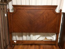 1/2 price - like new: Queen size headboard, footboard, mattress frame, dresser with mirror, ches... in Okinawa, Japan