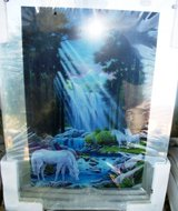 Light Up New in plastic Animated Picture of Waterfall & and Unicorns in Alamogordo, New Mexico