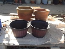 Planters, large in 29 Palms, California