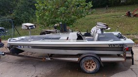 16' Bass Boat with trailer in Fort Campbell, Kentucky
