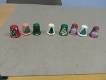 LOT OF WOODEN HAND PAINTED CHRISTMAS THIMBLES in Sugar Grove, Illinois