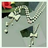 Faux Pearl Bow Necklace in Charlottesville, Virginia