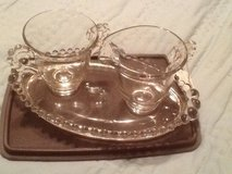 Candlewick cream & sugar with matching tray in Beaufort, South Carolina