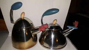 Two Whimsical Tea pots in Denton, Texas