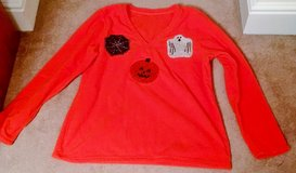HALLOWEEN ORANGE FLEECE TOP in Lakenheath, UK