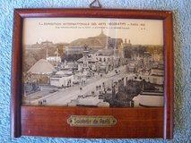 Framed Souvenir Picture of Paris (1925) in Mannheim, GE