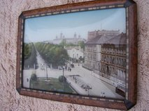 Framed Souvenir Picture of Paris (circa. 1925) in Mannheim, GE