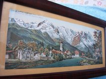 Framed Picture of Garmisch with the Alps and Zugspitz (circa 1920) in Ramstein, Germany