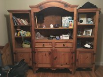 Entertainment Center & 2 end tables  ( solid wood ) in Camp Lejeune, North Carolina