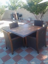 patio set in Yucca Valley, California
