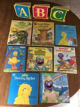 Sesame Street Books: Set of 11 incl  board books and picture story books in Cherry Point, North Carolina