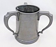 Rowell Oxford Three handled pewter tankard from UK in Naperville, Illinois