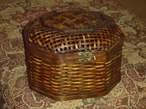 large wicker box 12x10x8H in Naperville, Illinois