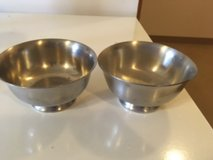 Paul Revere Marked Pewter Bowls in Naperville, Illinois