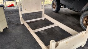 Solid Wooden Twin Size Headboard And Footboard-Reduced in Camp Lejeune, North Carolina