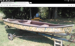 Duck boat/ scanoe in Fort Campbell, Kentucky