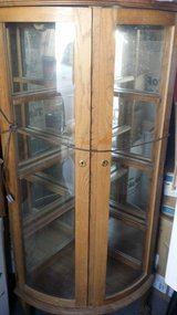 Corner display cabinet with claw legs in Alamogordo, New Mexico