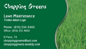 Chopping Greens Lawn Maintenance in Fort Bliss, Texas