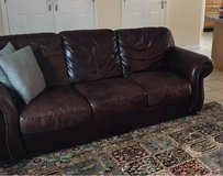 3 seater leather couch in Lakenheath, UK