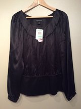 INC International Concepts dressy long sleeve black shirt size 8(M) in Lockport, Illinois