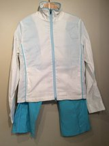 Nike sports wear stretchy  jacket with stretchy crop pants size M(8-10) in Lockport, Illinois