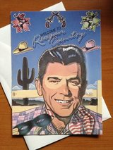 "Vintage ""Welcome to Reagan country"" greeting card in Chicago, Illinois"