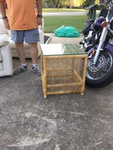 Bamboo Table w/Glass Top in Fort Campbell, Kentucky