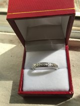 Wedding band 14 K solid heavy gold with rhodium plating NEVER WORN in San Diego, California