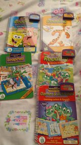 LeapPad Game Cartridges with 5 Books in Plainfield, Illinois