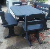 2 Benches, 2 Chairs and Table in Fort Campbell, Kentucky