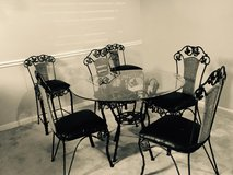 7 piece glass dinette set includes 2 bar chairs in Fort Benning, Georgia
