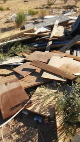 Free wood in 29 Palms, California